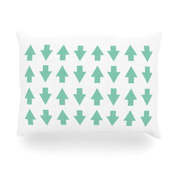 """Project M """"Arrows Up and Down Mint"""" Oblong Pillow"""