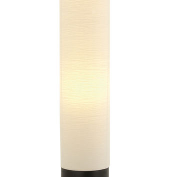 "Round Wood Paper Floor Lamp 63""H"