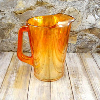 Vintage Jeannette Hex Optic Pitcher