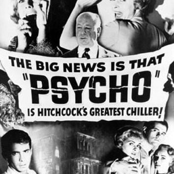 Psycho Hitchcock Vintage Movie Poster
