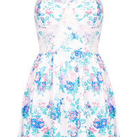 Floral Corset Tunic - Jersey Tops - Clothing - Topshop USA