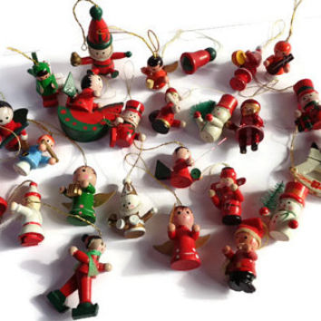 Collection Of Wooden German Christmas Ornaments