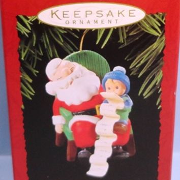1995 Dream On Hallmark Retired Ornament
