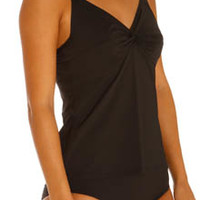 Tommy Bahama TSW33144P Pearl Solids Tummy Control Underwire Swimsuit