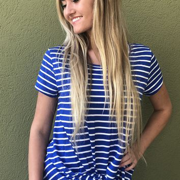Bright And Blue Top - Blue/White