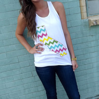 California Girl Chevron Tank