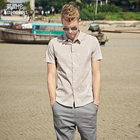 new summer short sleeve shirt men printing shirt cotton male casual clothing for men beach shirt clothes