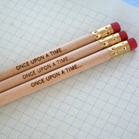 once upon a time... 3 pencils in natural wood. Now in DARK wood.