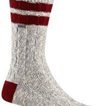 Women's Varsity Stripe Cotton Cable Knee-High Sock
