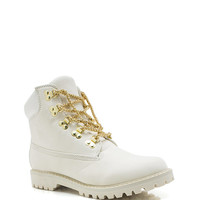 Chain-ge-Of-Pace-Work-Boots BLACK CAMEL WHITE - GoJane.com