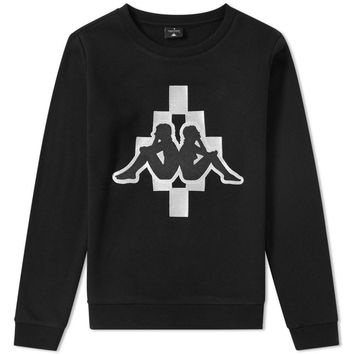 Marcelo Burlon x Kappa Black Sweater