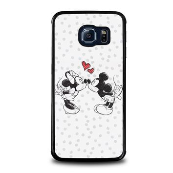 mickey and minie mouse kissing disney samsung galaxy s6 edge case cover  number 1
