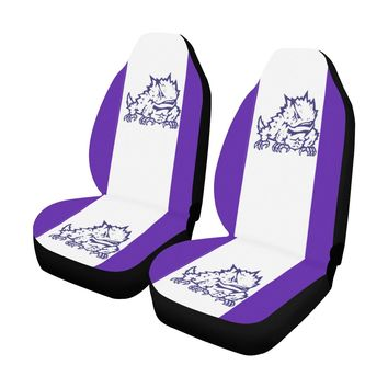 Fort Worth University Solid Colors Car Seat Covers (Set of 2)