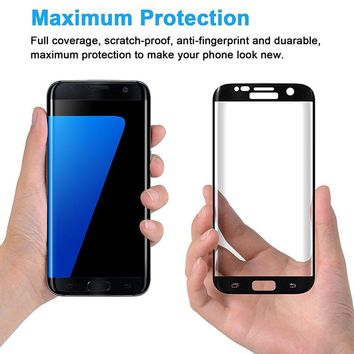 Tempered Glass 3D Curved Full Cover Screen Protector For Samsung Galaxy S6 S7 edge S6edge plus S8 S8Plus Mini A3/5/7 2017 Clear