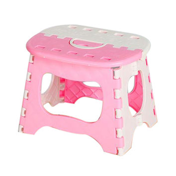 Pink Plastic Folding Stool Thicken Step Ottoman Fold Portable Home Furniture Kid Child House Picnic Convenient Dinner Stools