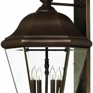 "0-033373>36""h Clifton Park 4-Light Extra-Large Outdoor Wall Lantern Copper Bronze"