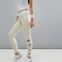 Nike Air Logo Leggings In Oatmeal at asos.com