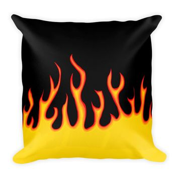 Flame Square Pillow