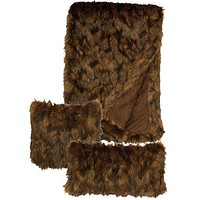 """Grizzly Faux Fur Throw (54"""" x 72"""")"""