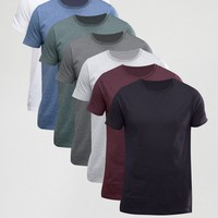 ASOS T-Shirt With Crew Neck 7 Pack SAVE 24% at asos.com
