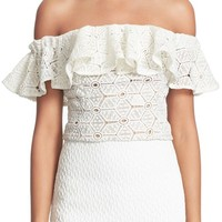 Rebecca Taylor Off the Shoulder Lace Top | Nordstrom