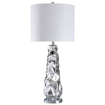 Modern Sculptured Mercury Glass Table Lamp | Kirklands