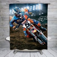"""Ryan Dungey Motocross Racer Design Print On Shower Curtain 60""""x72"""" Limited"""