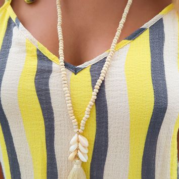 Down By The Sea Necklace: Ivory