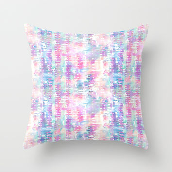 Amelie {Pattern 1A} Throw Pillow by Schatzi Brown