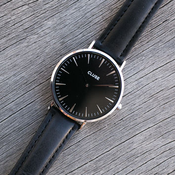 La Boheme Silver Black/Black Watch - CLUSE
