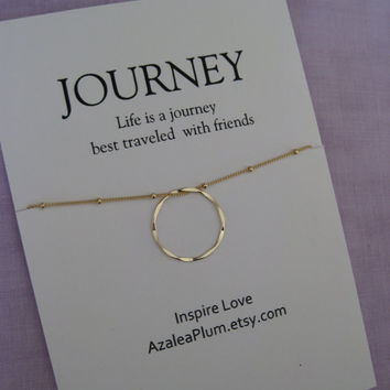 30th birthday gift Best Friend, GOLD Eternity Circle Birthday gift for Her, Friend Necklace. 40th Birthday Gift for Her. 3 Friends Gift