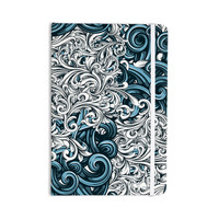 """Nick Atkinson """"Celtic Floral II"""" Abstract Blue Everything Notebook"""