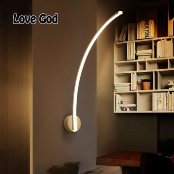 B-101 LED Arc wall lamp 16W LED Indoor corridor Wall Lamp Modern Home Lighting Wall Mounted A quarter arc decoration
