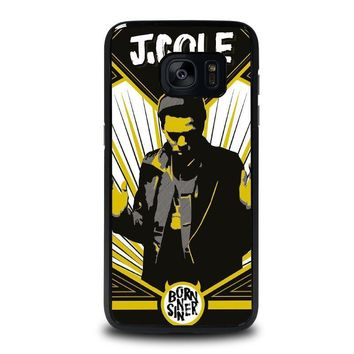 j cole born sinner samsung galaxy s7 edge case cover  number 1