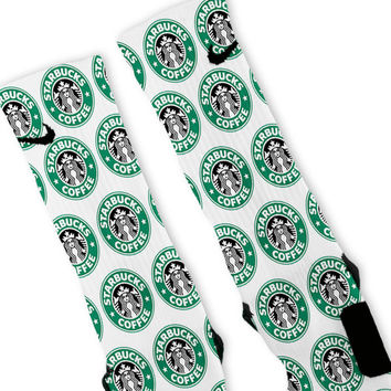 Starbucks Custom Nike Elite Socks