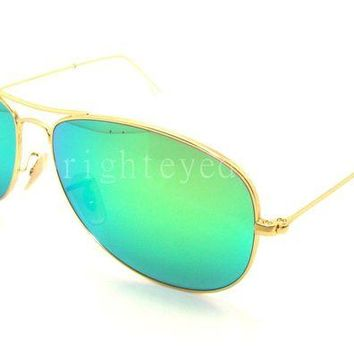 Kalete Authentic RAY-BAN Cockpit Gold Sunglasses RB 3362 - 112/19 *NEW* 59mm