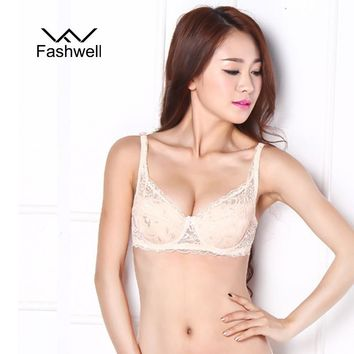 Lace Bralette Ladies Bras Adjusted Women Bras Transparent Thin Underwear Polyester Bra