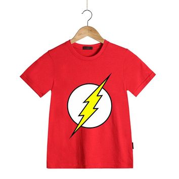 DC Comics Superhero The Flash T Shirt Children T-shirt Kids Clothes Boys Girls Cartoon T Shirt Tops