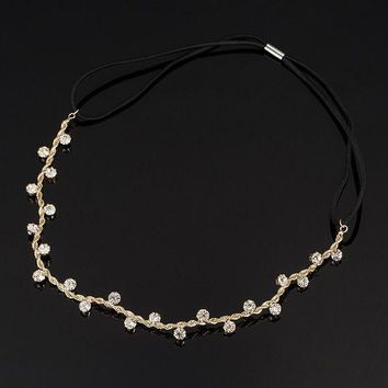 ESBONFI Free Shipping Hair Accessories crystal chain charms head bands women jewelry Wedding bridal hair jewelry H008