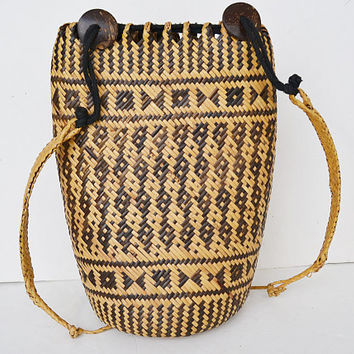 Straw bag, straw backpack, braided straw