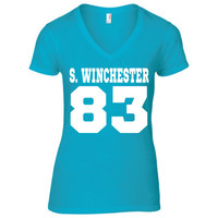 Supernatural Inspired Clothing | Sam Winchester DOB V-Neck | Supernatural T-Shirt | Date of Birth