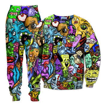 Trippy Faces Track Suit