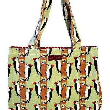 Bungalow360 Reversible Vegan Tote Bag (Woodpecker)