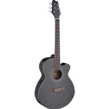 Stagg SA30ACE-BK Auditorium Black Cutaway Acoustic/Electric Guitar | Overstock.com Shopping - The Best Deals on Acoustic/Electric Guitars