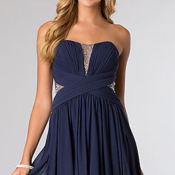 Short Strapless Homecoming Dress from JVN by Jovani
