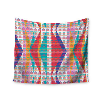 "Miranda Mol ""Triangle Illusion"" Multicolor Geometric Wall Tapestry"