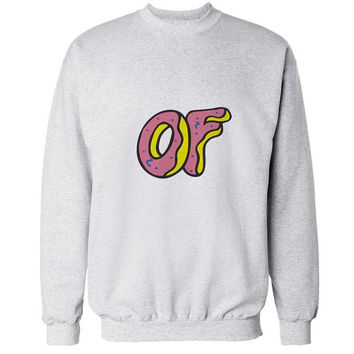 odd future sweater White Sweatshirt Crewneck Men or Women for Unisex Size with variant colour