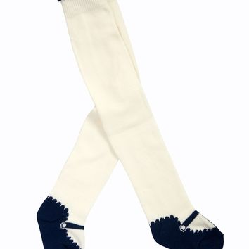 Mayoral Baby Girl Leggings in Cream and Deep Blue