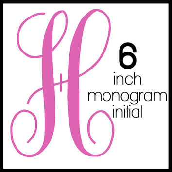6-inchTall Initial Monogram Decal