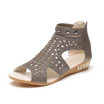 Sandals Women Sandalia Feminina Casual Rome Summer Shoes Fashion Rivet Gladiator Sandals Women Sandalia Mujer B67
